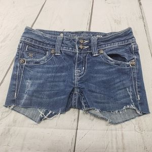 Miss Me Jeans Shorts Size 25 Womens Cut Off Jeans